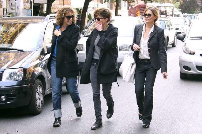 Valeria Golino, Isabella Ferrari e Alba Rohrwacher pranzo fra vip a Roma con Michele Placido