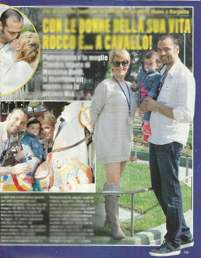 Rocco Pietrantonio papà felice: giornata al parco con la figlia Mia e la compagnia Claudia