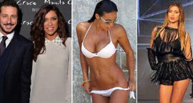 Luca Bizzarri sposa la velina, l'ex pupa Pasqulina e il giocatore del Milan. Il Fitness di Emma e Belen